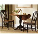 Liberty Furniture Low Country Napoleon Back Side Chair with Turned Legs - Napoleon Side Chair Shown with Drop Leaf Table