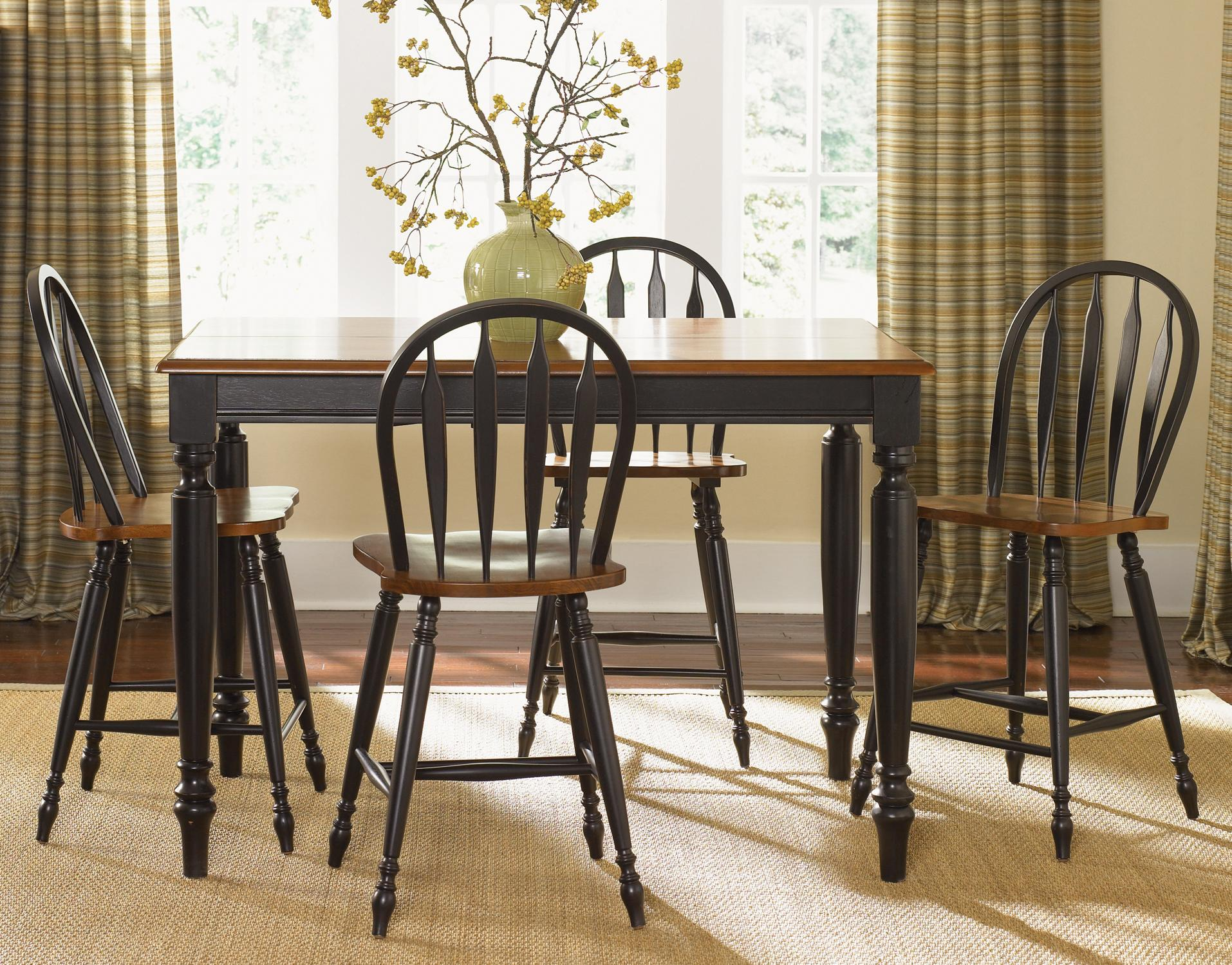 Liberty Furniture Low Country Five Piece Gathering Height Set - Item Number: 80-CD-SET14