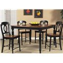 Liberty Furniture Low Country Gathering Table with 18 Inch Butterful Leaf - Shown with Four Matching Barstools