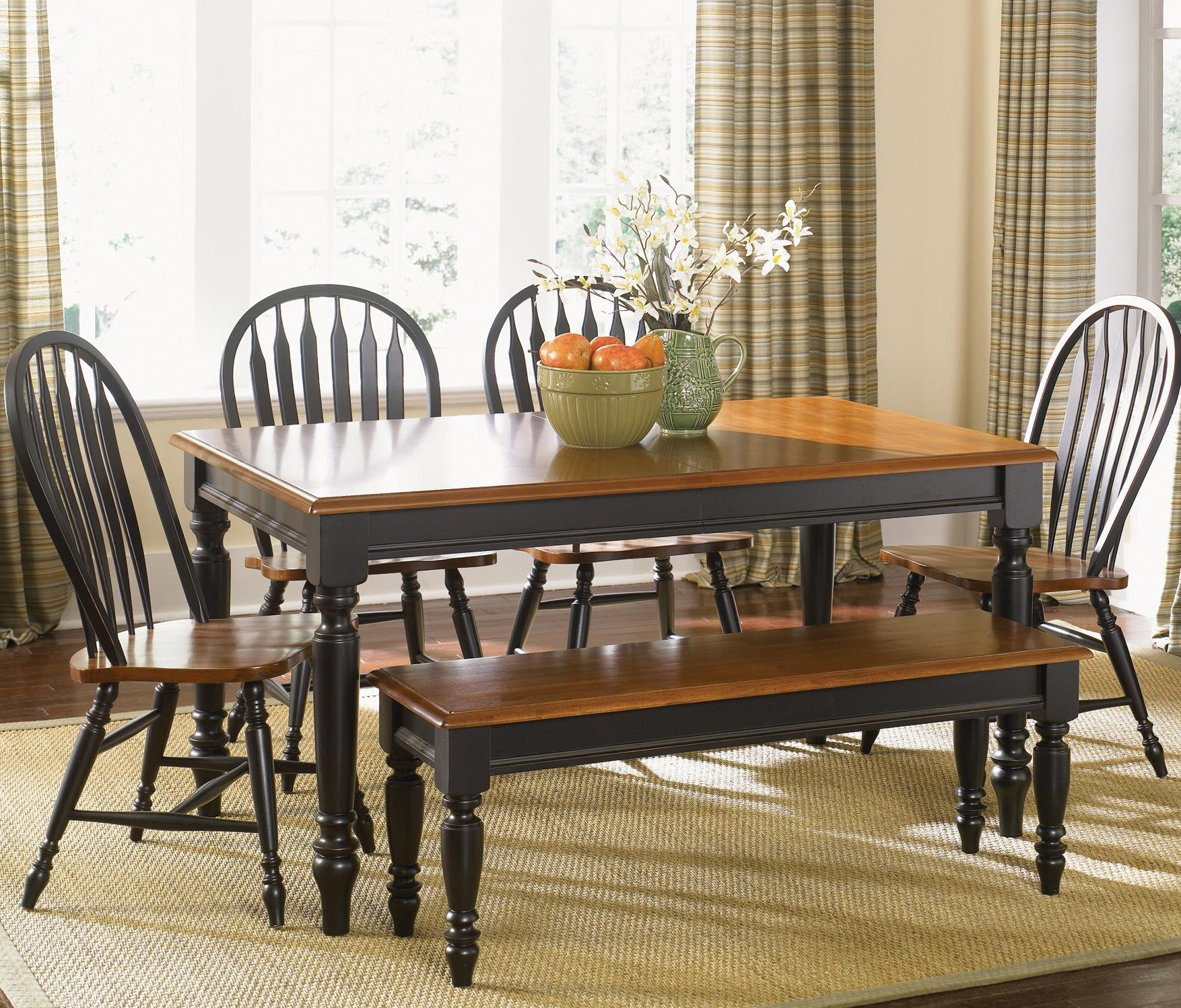 Liberty Furniture Low Country Six Piece Dining Set with Turned Legs ...