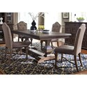 Liberty Furniture Lucca 5 Piece Dining Table and Chair Set - Item Number: 535-DR-52PS