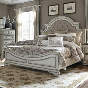 Vendor 5349 Magnolia Manor King Upholstered Bed