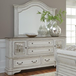 Liberty Furniture Magnolia Manor Dresser and Mirror