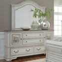 Liberty Furniture Magnolia Manor Dresser and Mirror - Item Number: 244-BR-ODM