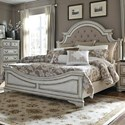 Liberty Furniture Magnolia Manor Queen Upholstered Bed - Item Number: 244-BR-QUB