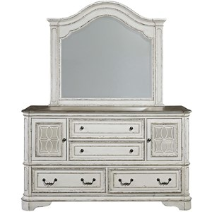 Liberty Furniture Magnolia Manor Dresser & Mirror