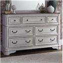 Liberty Furniture Magnolia Manor 7 Drawer Dresser - Item Number: 244-BR31