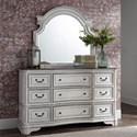 Liberty Furniture Magnolia Manor 9 Drawer Dresser and Mirror - Item Number: 244-BR34+51