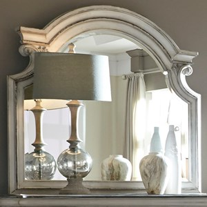 Vendor 5349 Magnolia Manor Mirror with Wood Frame
