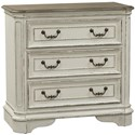 Liberty Furniture Magnolia Manor 3 Drawer Bedside Chest - Item Number: 244-BR64