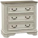 Liberty Furniture Magnolia Manor 3 Drawer Bedside Chest - Item Number: 244-BR64