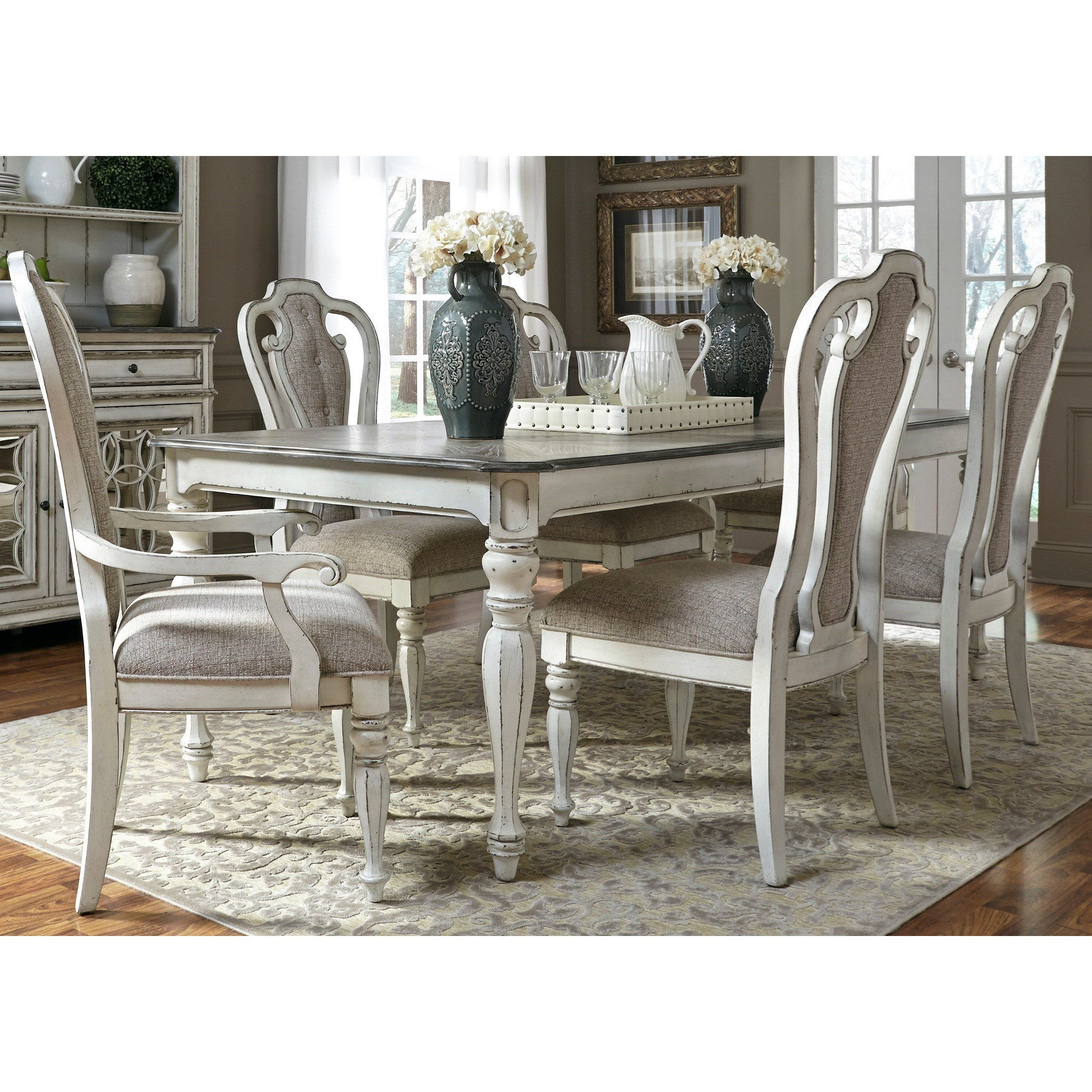 Payless Furniture Store Dining Room Tables: Liberty Furniture Magnolia Manor Dining Splat Back Arm