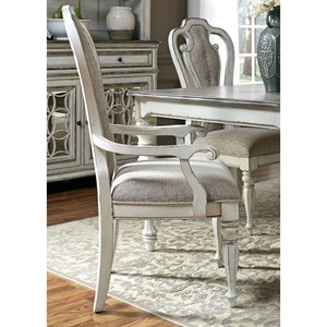 Liberty Furniture Magnolia Manor Dining Splat Back Arm Chair