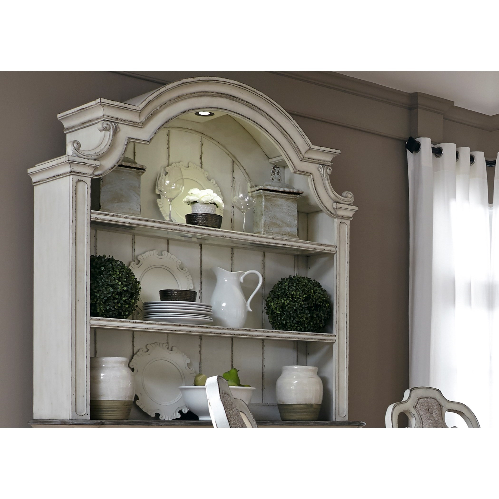 2 Shelf Hutch with Touch Lighting