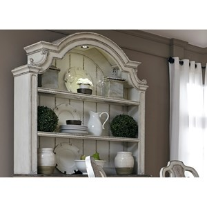 Liberty Furniture Magnolia Manor Dining 2 Shelf Hutch with Touch Lighting