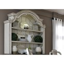 Liberty Furniture Magnolia Manor Dining 2 Shelf Hutch with Touch Lighting - Item Number: 244-CH5692