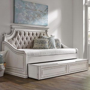 Liberty Furniture Magnolia Manor Twin Upholstered Trundle Daybed