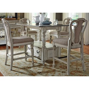 Liberty Furniture Magnolia Manor Dining Gathering Table and Chair Set