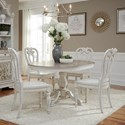 Liberty Furniture Magnolia Manor Dining 5 Piece Chair & Table Set - Item Number: 244-DR-5PDS