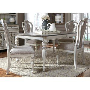 Liberty Furniture Magnolia Manor Dining 5 Piece Rectangular Table Set
