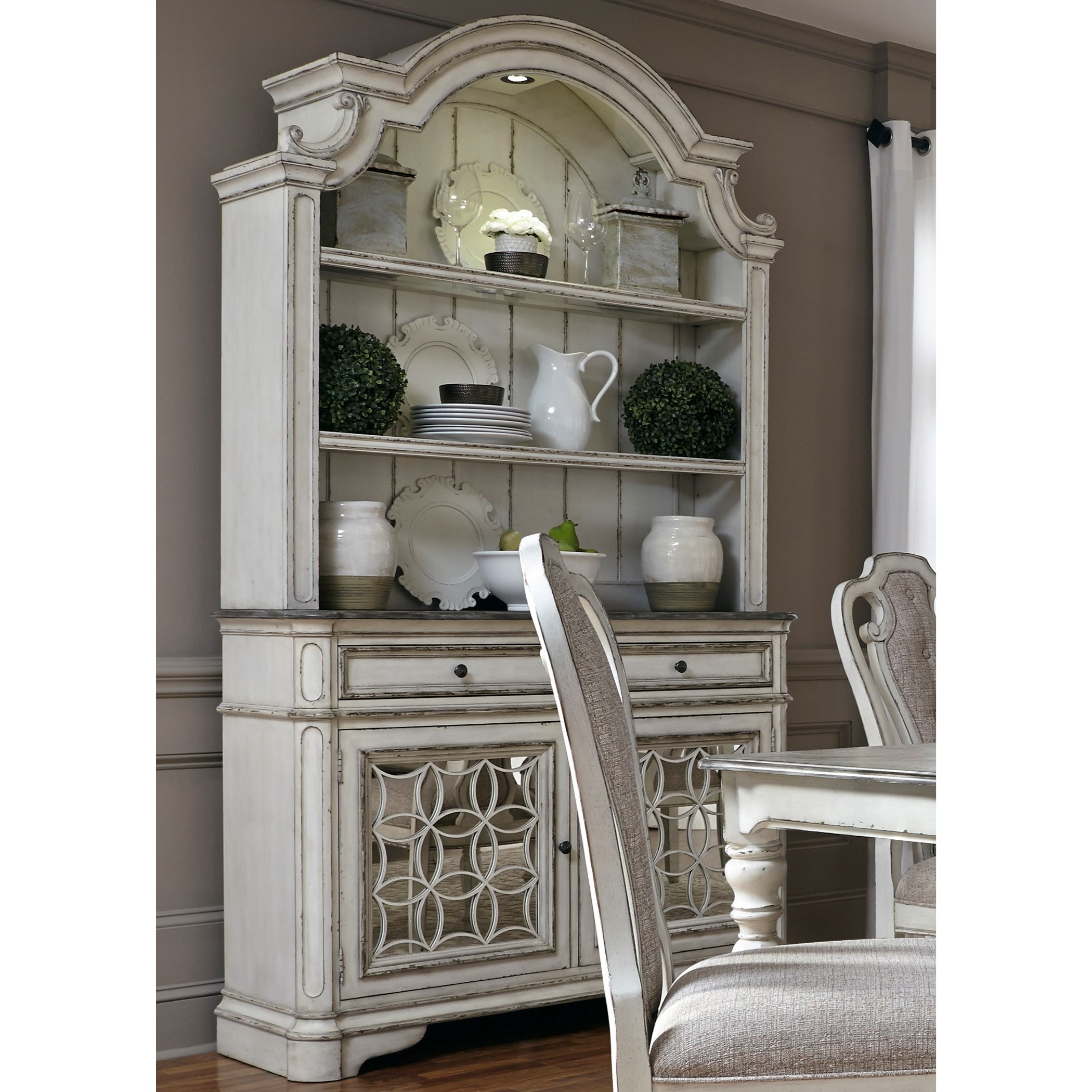 Liberty Furniture Magnolia Manor Dining Dining Buffet And Hutch   Item  Number: 244 DR