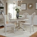Liberty Furniture Magnolia Manor Dining 5 Piece Chair & Table Set - Item Number: 244-DR-O5PDS