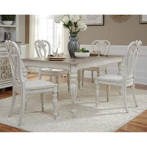 Liberty Furniture Magnolia Manor Dining Opt 5 Piece Rectangular Table Set