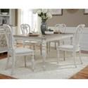 Liberty Furniture Magnolia Manor Dining Opt 5 Piece Rectangular Table Set  - Item Number: 244-DR-O5RLS