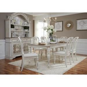 Liberty Furniture Magnolia Manor Dining Opt 7 Piece Rectangular Table Set
