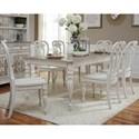Liberty Furniture Magnolia Manor Dining Opt 7 Piece Rectangular Table Set  - Item Number: 244-DR-O7RLS