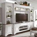 Liberty Furniture Magnolia Manor 4 Pc Entertainment Wall Unit - Item Number: 244-EC00+EL+ER+TV70