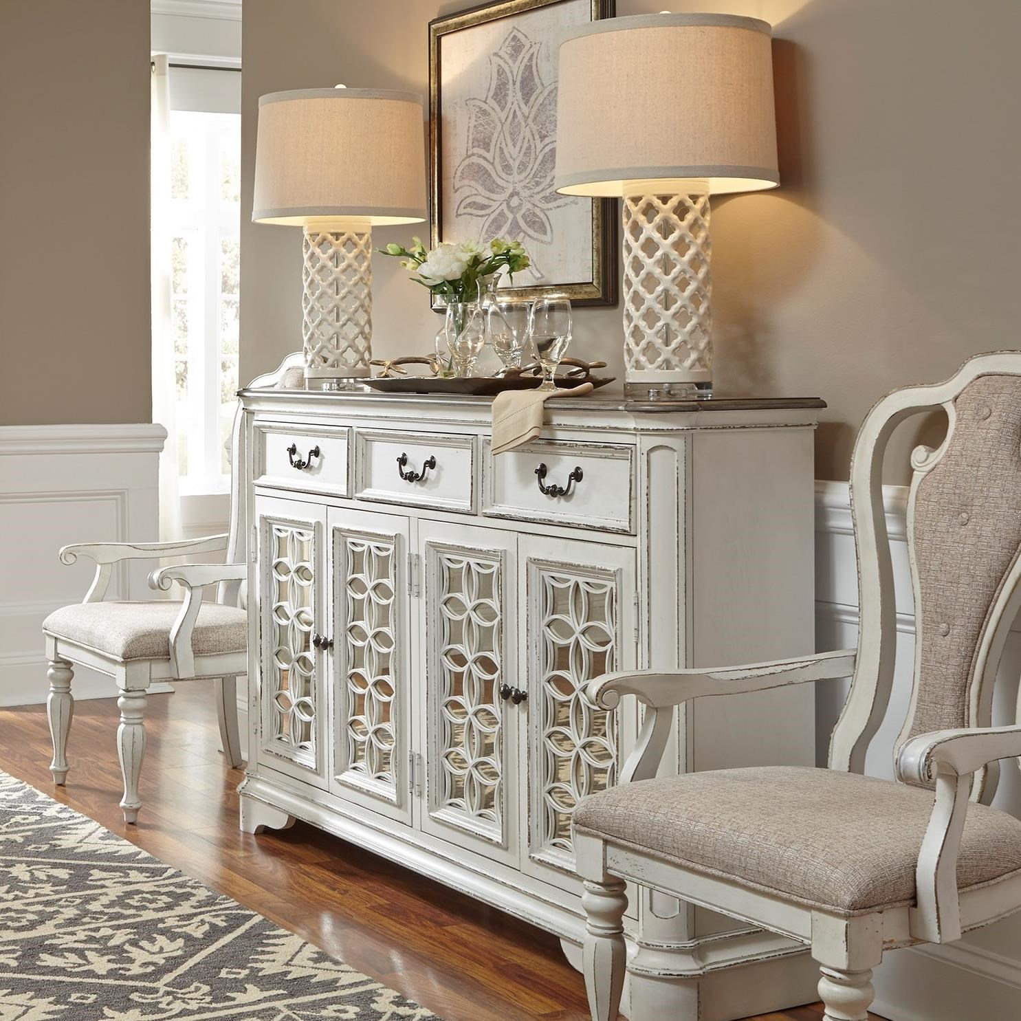 Liberty Furniture Magnolia Manor 244 Hb6642 Traditional Hall Buffet