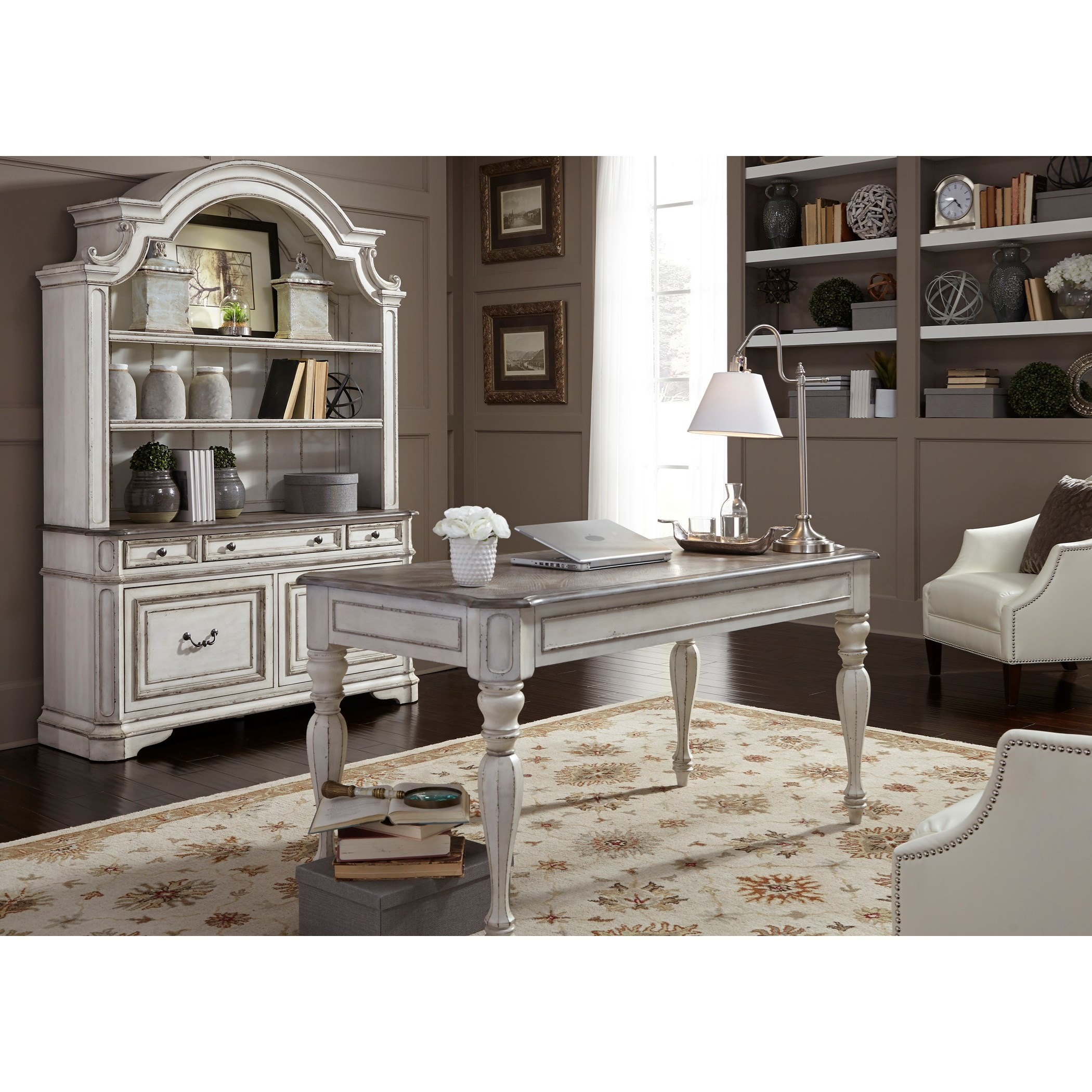 Desk and Hutch Set