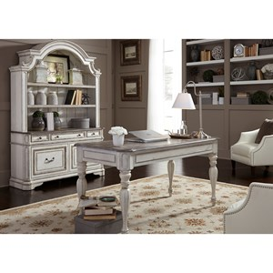 Liberty Furniture Magnolia Manor Office Desk and Hutch Set