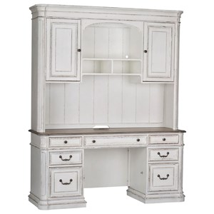 Liberty Furniture Magnolia Manor Office Credenza and Hutch