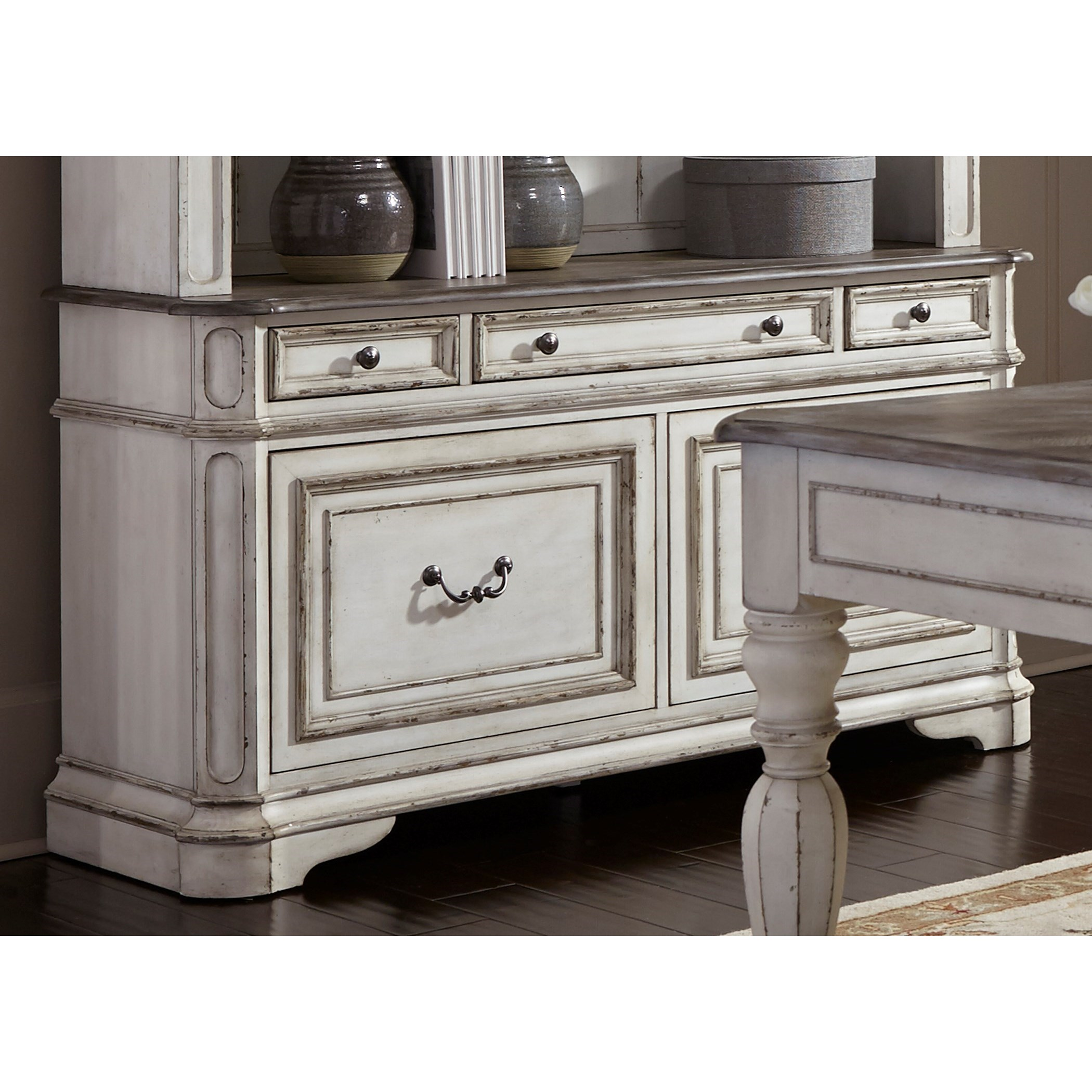 liberty furniture magnolia manor office 5 drawer credenza item number 244 ho121 - Magnolia Office