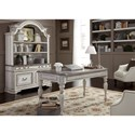 Liberty Furniture Magnolia Manor Office Credenza Hutch with Touch Lighting