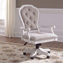 Liberty Furniture Magnolia Manor Office Traditional Executive Desk Chair with Button Tufted Seat Back