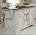 Liberty Furniture Magnolia Manor Dining Kitchen Island with Granite - Item Number: 244-IT6032G