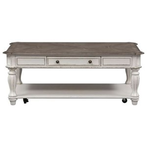 Liberty Furniture Magnolia Manor Rectangular Cocktail Table