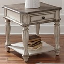 Liberty Furniture Magnolia Manor End Table with Dovetail Drawer - Item Number: 244-OT1020