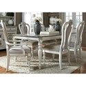 Liberty Furniture Magnolia Manor Dining 7 Piece Rectangular Table Set - Item Number: 244-T4408+2xC2501A+4xC2501S