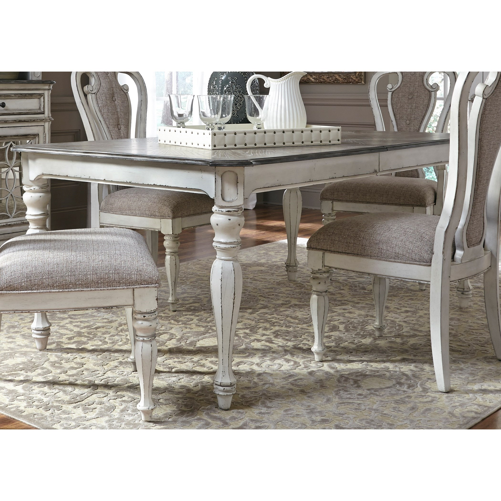 Liberty Furniture Magnolia Manor Dining Rectangular Leg Table with Leaf - Item Number: 244-T4490