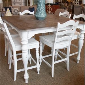 Gathering Table & 6 Counter Chairs