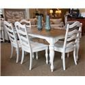 Liberty Furniture Magnolia Manor Rectangular Dining Table, 4 Chairs and Bench - Item Number: GRP-244-TBL-5