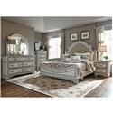 Liberty Furniture Magnolia Manor Queen Upholstered Bed, Dresser, Mirror & Nig - Item Number: LIBE-GRP-244-QUEENSUITE