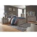 Liberty Furniture Messina Estates Bedroom King Poster Bed