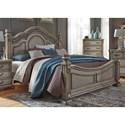 Liberty Furniture Messina Estates Bedroom King Poster Bed - Item Number: 537-BR-KPS