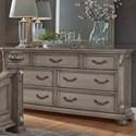 Liberty Furniture Messina Estates Bedroom 7 Drawer Dresser - Item Number: 537-BR31