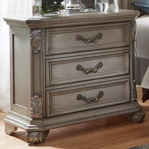 Vendor 5349 Messina Estates Bedroom 3 Drawer Night Stand